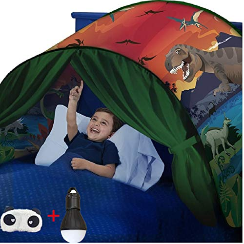 FLAYOR Dream Tents - Tienda de campaña para niños - Tienda de campaña para dormir - Ideal para interior o para niños - Carpas de regalo de Navidad (Dinosaurios)