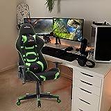 Gharpbik Gaming Stuhl Bürostuhl Schreibtischstuhl mit Verstellbaren Armlehnen und Wippfunktion...