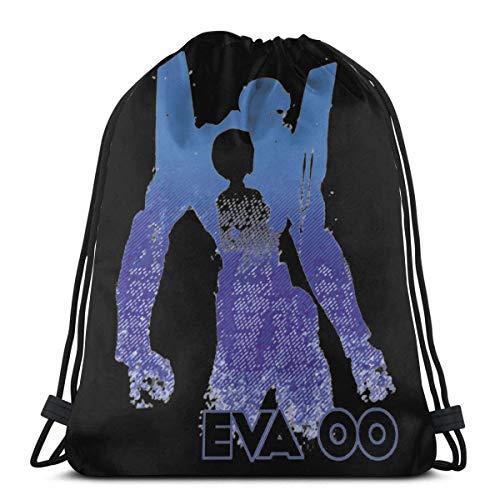 WH-CLA Drawstring Backpack Eva 00 Rei Ayanami Drawstring Bag Travel Printed Ligero Único Durable Cinch Bags...