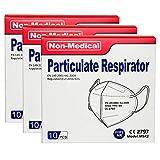 ISN mask2 - 30 pcs FFP2 Maschera Facciale di Protezione Respiratoria, Antipolvere, Imbustate singolarmente - Mascherina 5 Strati Traspiranti Certificata CE Confezione da 30 pezzi