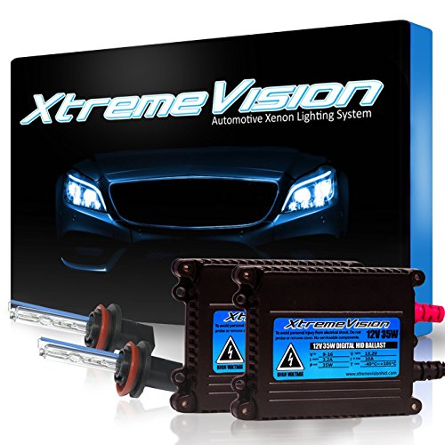 Xtremevision 35W Xenon HID Lights with Premium Slim Ballast - H11 5000K - 5K Bright White - 2 Year Warranty