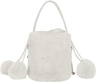 Ultramall New Fashion Plush Satchel Casual Wild Simple Shoulder Messenger Bag