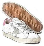 Golden Goose GGDB Zapatillas deportivas para mujer, de piel, informales, con parte superior baja, color Rosa, talla 38 EU