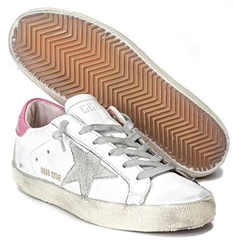 Golden Goose Damen Sneakers GGDB Leder Casual Schuhe Low Top Slide, Pink - rose - Größe: 36 EU