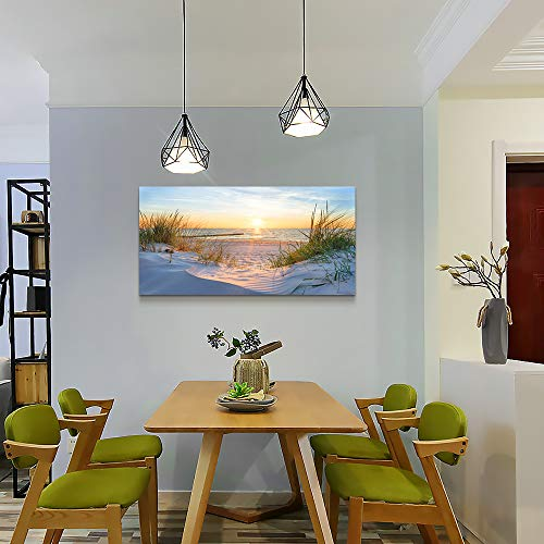 Wall Art For Living Room Simple Life Blue Moon Tree Landscape Abstract Painting Office Wall Decor