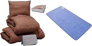 【寝具セット】 アイリスプラザ 布団セット セミダブル 4点セット + アイリスプラザ 除湿シート(防ダニ加工/AG消臭機能付) 敷きパッド セミダブル