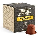 Note dEspresso - Cápsulas de manzanilla con miel y naranja, Exclusivamente Compatible con cafeteras Nespresso, 40 unidades de 6g