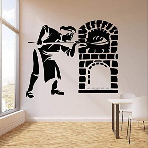 Adhesivo De Pared Mural Calcomanía Panadero Hornear Pan Pastel Pastel Horno Panadería Cocina Panadería Decoración Del Hogar Vinilo Arte 67 * 55 Cm