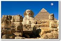 エジプトスフィンクスとピラミッド–新しい世界旅行ポスター
