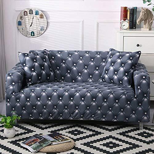 WXQY La Funda de sofá elástica Envuelve la Funda de sofá Antideslizante con Todo Incluido, Utilizada para el sofá Modular de la Sala de Estar, Funda de sofá de Toalla A19 de 2 plazas