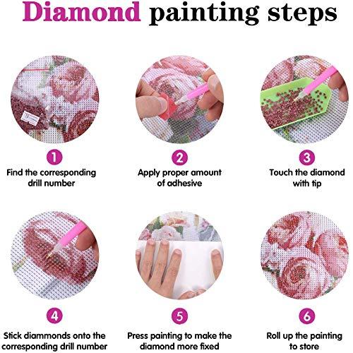 Kits de pintura de diamantes 5D para adultos, Anime My Hero Academia con ilustraciones de diamantes de imitación de cristal, para relajación y decoración de la pared del hogar (cuadrado, 30 × 40 cm)