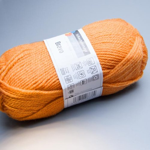 Schachenmayr Bravo, 50g, Wolle Polyacryl, Farbe:08323 Mandarine , stricken ca. 133 m