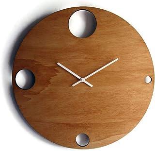 42cm Grande orologio da parete silenzioso per camera letto colorato come noce chiaro Particolari orologi a muro analogici ...
