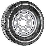 ST225/75D15 Loadstar Trailer Tire LRD on 6 Bolt Silver Spoke Wheel