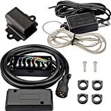 RVMATE 7 Way 8 Feet Trailer Cord Kit,Include 12V Breakaway Switch and Plug Holder, Trailer Connector Cable Wiring Harness with Waterproof Junction Box