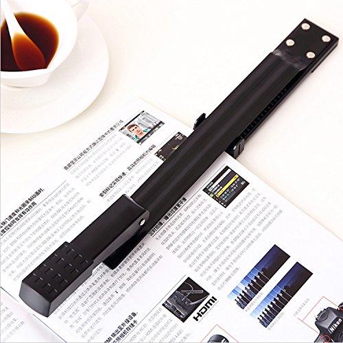 """OMAIC Stapler, 12"""" Long Stapler, Long Reach Stapler, Long Arm Stapler with Staples, 20 Sheets Print Papers-Black Photo #7"""