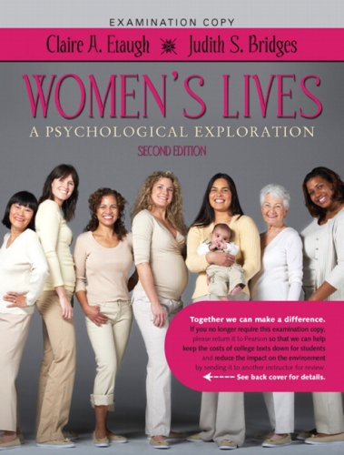 Women's Lives: A Psychological Exploration (2nd Edition)