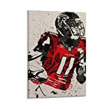 Atlanta Julio Jones Falcon Poster, dekoratives Gemälde,