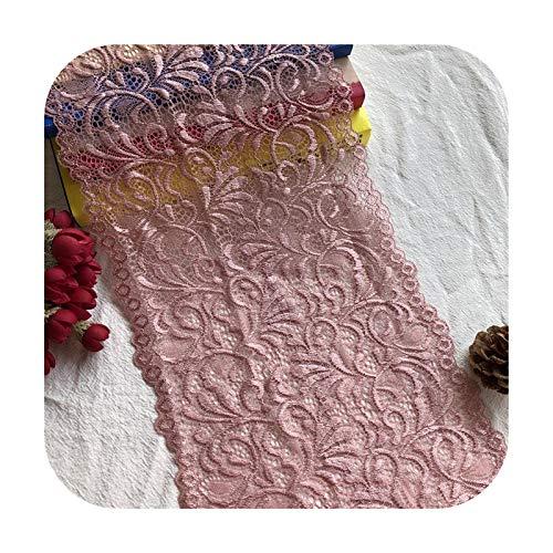 Hopereo 19,5 cm de color rosa oscuro Spandex Lace Crafts Cinta de costura de encaje elástico Recorte tela Material de tejer DIY Prenda-Rosa Oscuro-1 M