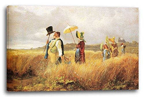 Printed Paintings Leinwand (60x40cm): Carl Spitzweg - Sonntagsspaziergang