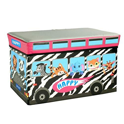Taburete para almacenaje Taburete de almacenamiento- Taburete de almacenamiento creativo multifuncional for automóvil, Taburete de almacenamiento for el hogar Caja de almacenamiento de juguetes (Tamañ