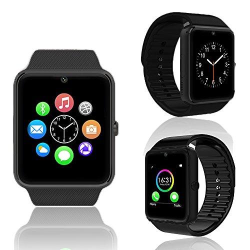 Indigi U8BK-CP03 Smartwatch for All Bluetooth Enabled Smartphones - Black