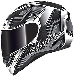 オージーケーカブト(OGK KABUTO) バイクヘルメット フルフェイス KAMUI2 HUMMER(ハマー) フラットブラック/シルバー (サイズ:L) 569242