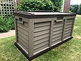 GSD Plastic Waterproof Garden Storage Deck Box Bench XL Size 440 Litre 5 Year Guarantee