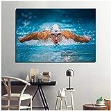 DOAQTE Michael Phelps Schwimmer Sportmalerei Modularer Stil