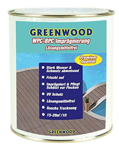 Greenwood - Premium WPC Pflege & Schutz Imprägnierung Farblos - Transparent 750ml #0L - Lösungsmittelfrei - Keine Ausdünstungen - Haustierfreundlich - Schadstofffrei