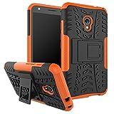 Funda Firmness Smartphone Funda Carcasa Case Cover Caso con Kickstand para Alcatel Pixi 4 5.0 Inch OT5045X 4G(Naranja)