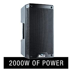 Superior Sound – 2000 W peak (1300 LF + 700 HF) 1000 W continuous RMS (650 LF + 350 HF) active speaker with precision crossover and high-efficiency class D amplifiers Driving Bass, Pristine Highs - 8-inch (305 mm) LF driver, 2.5-inch (76 mm) high-tem...