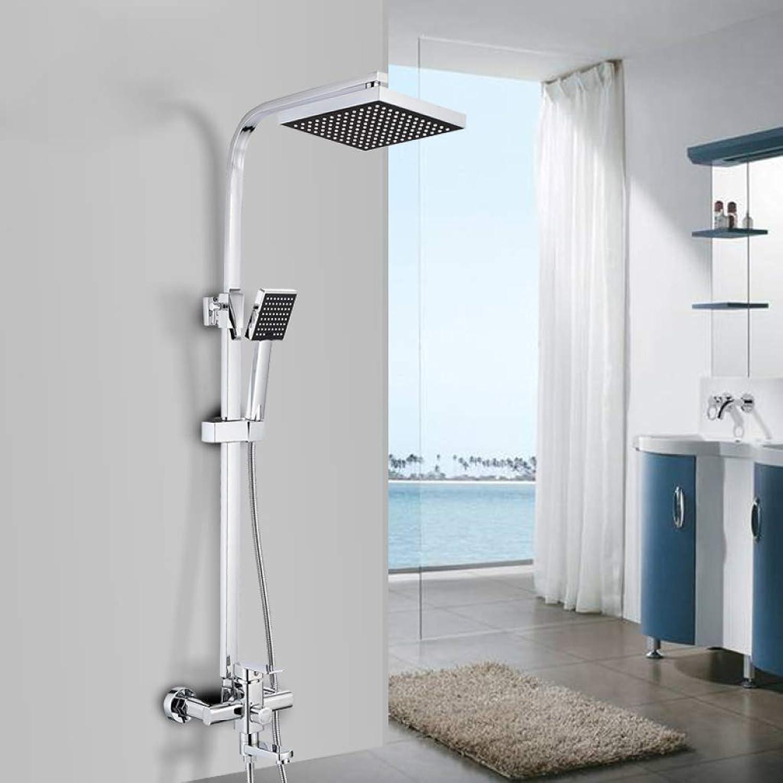 LHW Shower Set, Brass, Booster, Quartet, Shower Set, Water Saving, Thickening, Brass, Shower, Handheld Shower Set