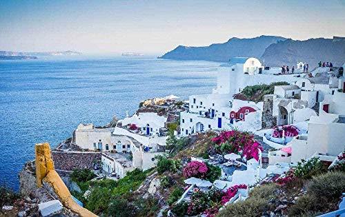 1000 Piece Jigsaw Puzzle Santorini Oia Greece World Landscape Wooden Jigsaw Puzzle