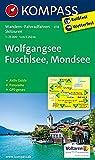 Wolfgangsee - Fuschlsee - Mondsee: Wanderkarte mit Aktiv Guide, Panorama, Radwegen und alpinen Skirouten. GPS-genau. 1:25000 (KOMPASS-Wanderkarten)