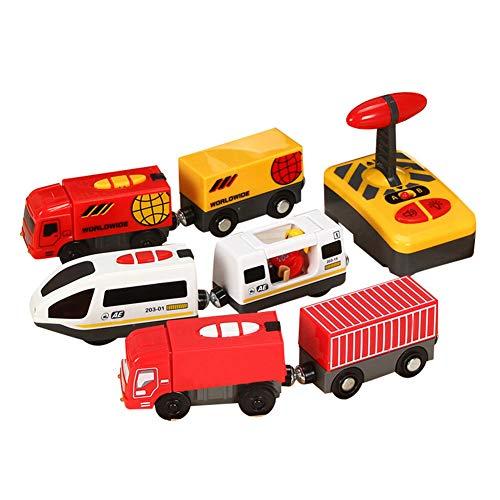 ISAKEN Gran Locomotora a Pilas, Juguete de Tren de Tren de Control...