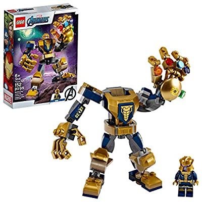 LEGO Marvel Avengers Thanos Mech 76141 Cool Action Building Toy for Kids with Mech Figure Thanos Minifigure, New 2020 (152 Pieces) by LEGO