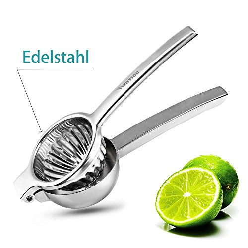 Lemon Squeezer,WERTIOO Manual Citrus Press Juicer Premium Quality Stainless Steel Orange,Lime squeezer Fruit Juice