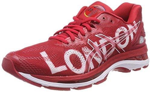 Asics Gel-Nimbus 20 London Marathon, Zapatillas de Running para Mujer, Rojo (Classic Red/Classic Red/White 2323), 37 EU
