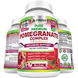 Premium Pomegranate Juice Powder Supplement 1200mg, Supports Healthy Blood Pressure, Joints, Skin & Anti Aging with Bioperine Black Pepper, Powerful Antioxidant with Vitamin C & K, 120 Vegan Capsules