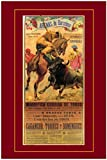 cuadros decoracion salon listones de madera 60x90cm Frameloos Vintage español Arenas De Barcela Bullfight Matador Bull s Prints Home Decor