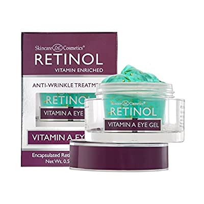 Retinol Vitamin A Eye Gel - Anti-Wrinkle Treatment Minimizes Signs of Aging, Puffiness & Dark Circles Around Eyes - Extra Boost of Retinol From Micro-Beads Restores Tone & Elasticity to Eye Area