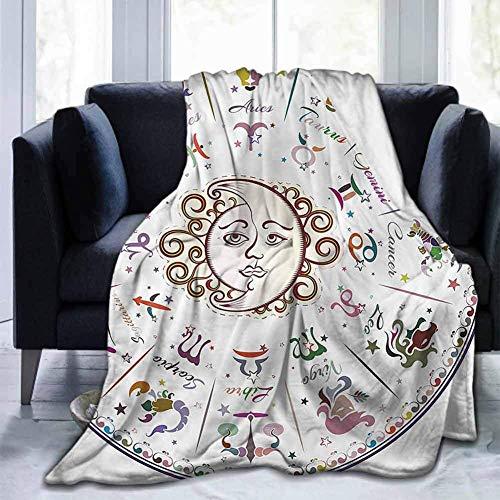 Leisure-Time Soft Bed Blanket Zodiac, Astrology Zodiac Sign, Mantas para bebé