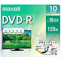 maxell 録画用 DVD-R 標準120分 16倍速 CPRM デザインプリント 10枚パック DRD120PME.10S