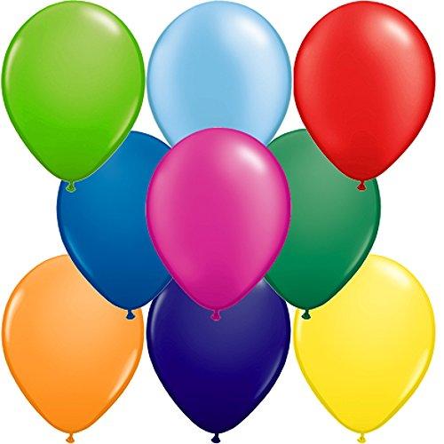 partydiscount24 100 x Luftballons Bunt gemischt Ø 25 cm - Karnevalsangebot
