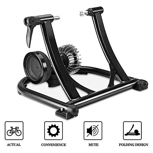 DSHUJC Bicycle Turbo Trainer,Fluid Bike Trainer Stand Duty Stable Bike Stationary Riding Stand Bicycle Trainer Fits Bikes Between 24-28 Inches