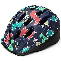 1. OutdoorMaster Toddler Dinosaur Print Helmet