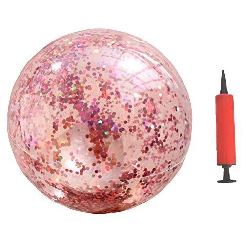 VOSAREA Aufblasbar Wasserball Konfetti Transparent Ball Ferien Sommerparty Strand Spielzeug mit Pumpe
