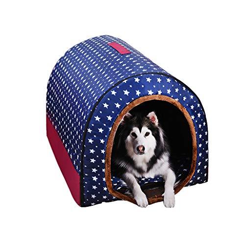 Große Hundehütte, 2 In 1 Tragbare Winter Warm Waschbar Pet Nest Medium Hund Hundehütte Golden Hair Indoor Hundehütte (Farbe : A, größe : XXL)