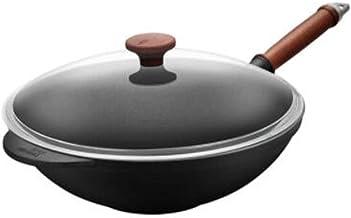 MSWL Wok, 32cm Non-stick Pan, Shovel Plasma Super Wear-resistant Wok, Induction Cooker Gas Gas Cooker Open Fire Universal,...